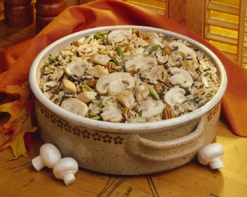 Mushroom Turkey and Rice Casserole