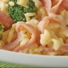 15 Minute Cheesy Rice With Ham And Broccoli