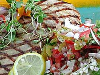 Grilled Swordfish With Caribbean Salsa