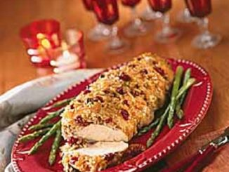 Turkey with Pecan-Cherry Stuffing