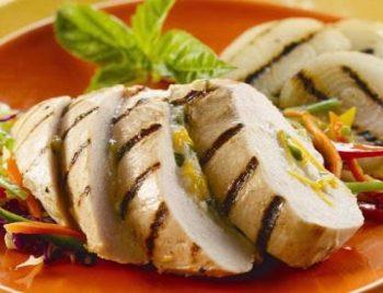 Vidalia Onion and Ricotta Stuffed Grilled Chicken