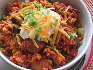 One Pot Meatball and Rice Chili