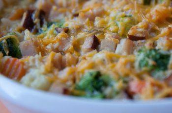 Turkey, Broccoli and Rice Bake