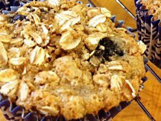 Lemon-Blueberry Oatmeal Muffins