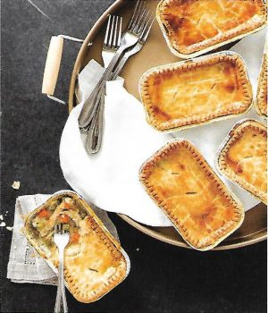 Individual Chicken Pot Pies for the Freezer