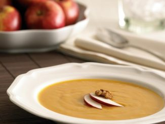 Roasted Ontario Apple and Sweet Potato Soup