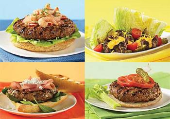 4burgers2 350x245   Basic Bold Burger   RecipesNow.com