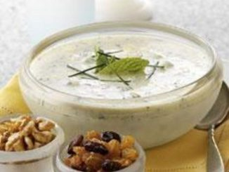 Minted Yogurt Soup with California Raisins
