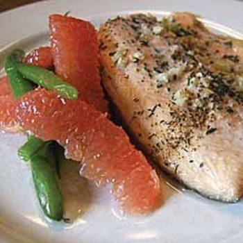 Fresh Trout With Florida Grapefruit Segments