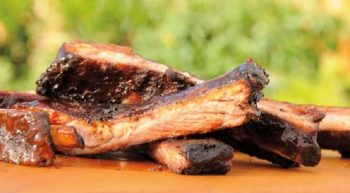 Slow-Smoked Spareribs With Sweet-and-Sour Barbecue Sauce