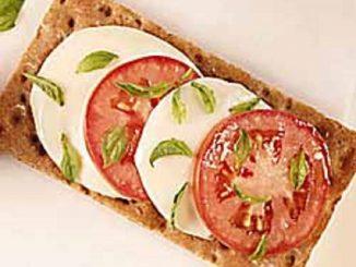 Margherita Pizza On Wasa Sourdough Crispbread