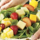 cheddar fruit kabobs 140x140   Sunshine Tilapia Salad with Dijon Dill Dressing   RecipesNow.com