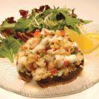 cheesy seafood stuffed portabella mushrooms 05 140x140   Mushrooms Stuffed With Mozzarella And Prosciutto   RecipesNow.com