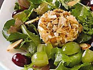 Crisp Onion Goat Cheese Salad