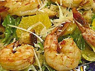 Sicilian Salad with Grilled Shrimp