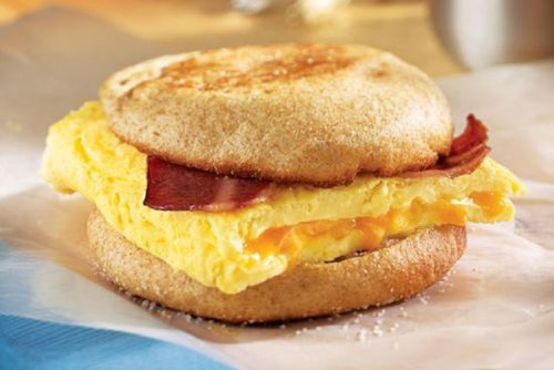 Spicy Bacon and Cheese Eggwich