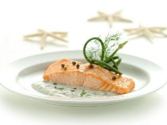 Yogourt and Pesto Salmon