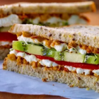 Roasted Red Pepper and Avocado Sandwich