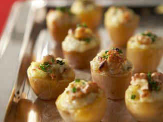 Mini Walnut Stuffed Potatoes