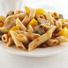 Penne Rigate with Chicken, Pepper and Mushrooms