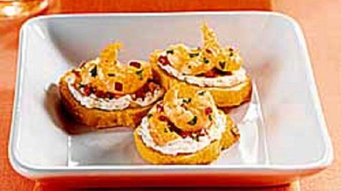 Garlic Shrimp Crostini