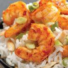 Thai Shrimp With Coconut-Almond Rice
