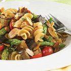 Asparagus, Grape Tomatoes, Portobello Mushrooms and Sliced Almonds with Whole Wheat Rotini