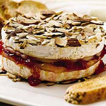 Baked Brie With Cherries And Nuts