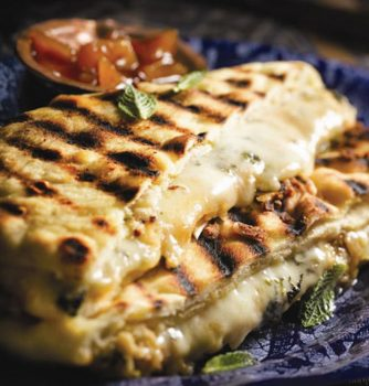 Indian Style Grilled Cheese Sandwiches on Naan Bread