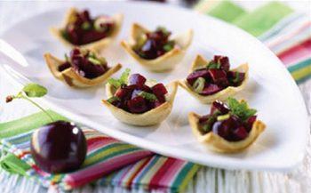 Savoury Cherry Bruschetta